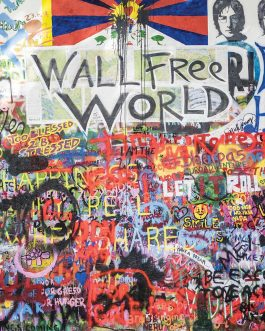 Tableau en Alu Wall Free World